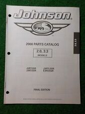 2000 OMC Johnson Outboard Parts Catalog Manual 2.0 3.3 HP Final Edition DEALER