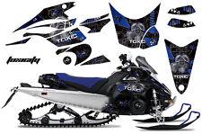 AMR Racing Sled Wrap Yamaha FX Nytro Snowmobile Graphics Kit 08-14 TOXICITY BLUE
