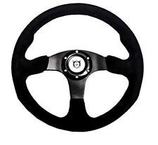 "Pro Armor Formula 13"" Suede UTV Steering Wheel BLACK 6 Bolt Polaris RZR XP S All"