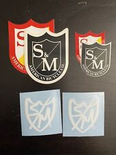 S&M Shield Decal/Sticker Set (rd/ylw/blk/wt, 6) Terrible One FBM Standard Primo