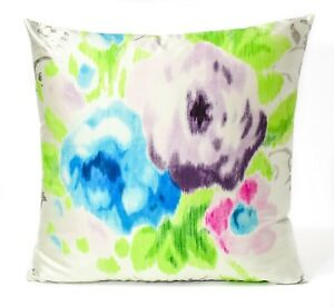 "New Designers Guild Fabric Cushion Cover 18""Capucheen Azure Silk Taffeta"