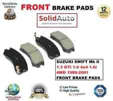 FOR SUZUKI SWIFT Mk II 1.3 GTi 1.6 4x4 1.6i 4WD 1989-2001 FRONT BRAKE PADS SET