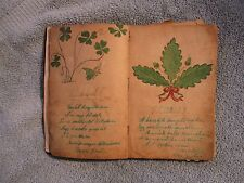 Antique Ca. 1900's German Autograph Album with Hand Drawn Florals