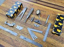 VINTAGE MACHINIST TOOLS Mixed Lot Indicator Gauge Punches Rules Calipers ☆USA