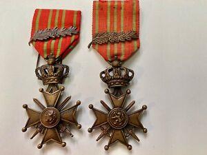 Médaille militaire belge Croix de Guerre avec palme 1914-1918 WW1 598w20