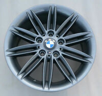 "GENUINE BMW 1 SERIES E81 E87 Rear Wheel Alloy Rim 17"" M Double Spoke 207 7,5J"