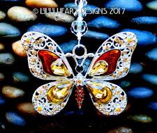BIG GOLDEN BUTTERFLY Rhinestones Enamel m/w Swarovski Beads Lilli Heart Designs