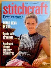 Vintage Stitchcraft Magazine. August 1980
