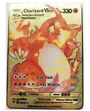 Carte Pokemon Metal Gold Dracaufeu/charizad Vmax Fan Made