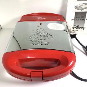 Ariete Disney Mickey Mouse Waffle Maker Mod.197 4 X Waffle New