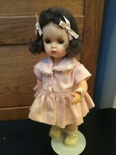 Doll Terri Lee Tiny Terri Lee Brunette in Pink Dress and panties tagged 1950s