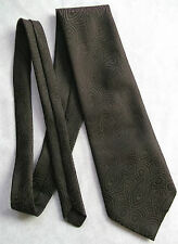 Vintage Tie MENS Necktie Retro Wide DARK BROWN SHIMMERY