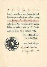 Sophie Taeuber-Arp 1889-1946 Autograph Autogramm Schweizer Künstlerin Malerin