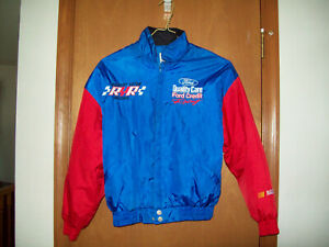 DALE JARRETT #88 FORD QUALITY CARE XL YOUTH NASCAR JACKET BLUE & RED PRE-OWNED