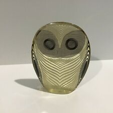 A. Palatnik mod owl black white small sculpture op art Brazil 4 and 1/2 in tall