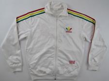 Adidas Originals Chile 62 wet look white tracksuit track jacket vintage mens L
