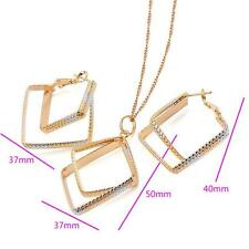 18 K Multicolor Gold Filled Pendant Necklace Jewelry set