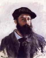 Claude Monet Self Portrait With Beret 1886 Painting Art Poster 24x36 inch
