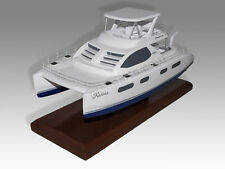 Leopard 47PC Catarman Boat Solid Kiln Dried Mahogany Wood Desktop Replica Model