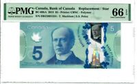 Canada $5 2013 BC-69bA PMG GEM UNC 66 EPQ Single Note Replacement / Star