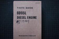 KOMATSU 6D95L Forklift Engine Parts Manual book shop catalog spare OEM 1984 list
