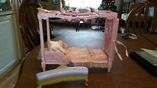Princess Bed With Sound & Vanity Chair Barbie Doll