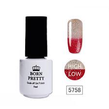 BORN PRETTY Nail UV Gel Polish Thermal Color Changing Glitter Shimmer Soak Off