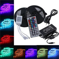 10M LED Stripe 5050 SMD RGB Leiste Streifen Band Lichtband IR Netzteil 12V Kit