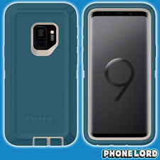 Genuine OtterBox Defender case cover for Samsung Galaxy S9 GS9 Big Sur Blue slim