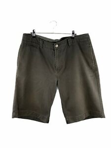 JAG Denim Shorts Mens Size 36 Green Zip Close Pockets Casual Button Logo