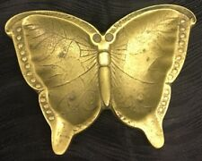 Vintage Brass Butterfly Change Dish or Ashtray Trinket Change Valet Ash Tray