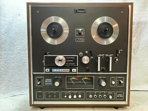 AKAI X-1810D AUTO-REVERSE STEREO REEL-TO-REEL  W/ 8 TRACK CARTRIDGE - FOR PARTS
