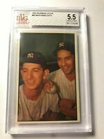 1953 Bowman #93 Billy Martin Phil Rizzuto BVG 5.5 EX+ Yankees PSA FRESHLY GRADE