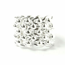 Men's Silver Keeper Ring New 925 Solid 5 Row Hallmarked 18.7g 17mm Size Z