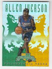 2012/13 PANINI CRUSADE ALLEN IVERSON GREEN GOLD PRIZM REFRACTOR 18/25 CARD #89