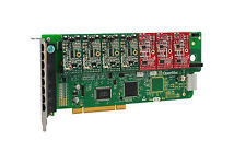 OpenVox A800P43 8 Port Analog PCI Base Card + 4 FXS + 3 FXO, Ethernet (RJ45)