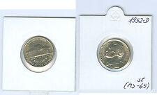 EE.UU. 5 Centavos 1952 D sin circulación (MS-65)