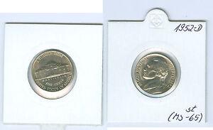 USA 5 Cents 1952 D Pièce de Monnaie (MS-65)