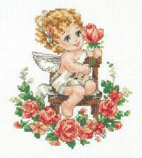 Kit Punto De Cruz Angel Art. 35-18
