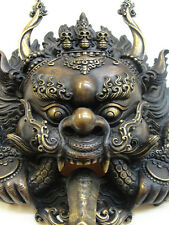 DRAGON Mask Tibetan Buddhist Bronze Handcrafted from Nepal Very Detailed Large