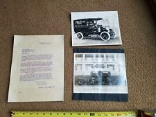 3 1913 Store Delivery Truck San Francisco California Photographs & Letter