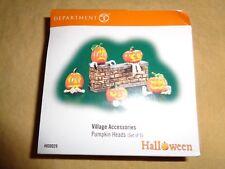 (2856) Department 56 Pumpkin Heads ~ Set of 4 ~ plus bonus candle
