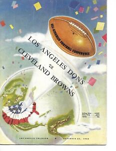 1948 Los Angeles Dons-Browns AAFC Program Graham Bests Dons BEAUTY!!