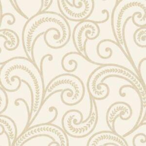 Rasch Astoria Leaf Pattern Wallpaper Damask Embossed Metallic Glitter 305210-2