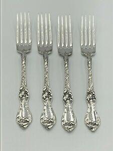 Les Cinq Fleurs (five flowers) Reed & Barton Sterling Silver set of 4 Forks