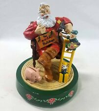 Coca Cola Mechanical Santa Claus with Elf Coin Bank 2nd in Series 1994