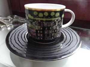 Hundertwasser Porzellan:Hundertwasser Kaffeetasse °Gesang der Wale° limitiert