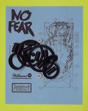1995 Williams No Fear Dangerous Sports pinball rubber ring kit