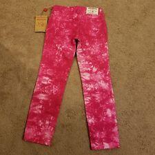 NWT True Religion Girls Fushia Casey Tie Dye Jeans, Size 8