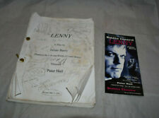 Lenny Original Play Script Julian Barry Elizabeth Berkley Personal Copy Notes